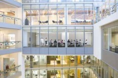 View of business people meeting in conference room of modern bui